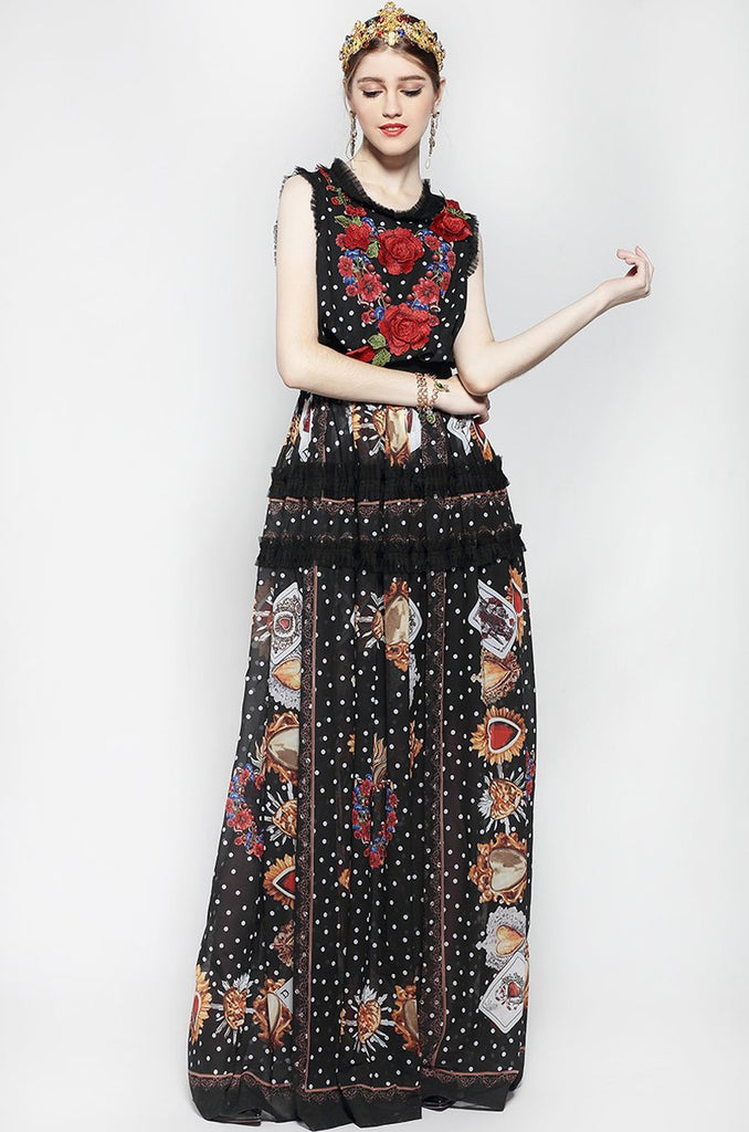 Beatrice embroidered maxi dress
