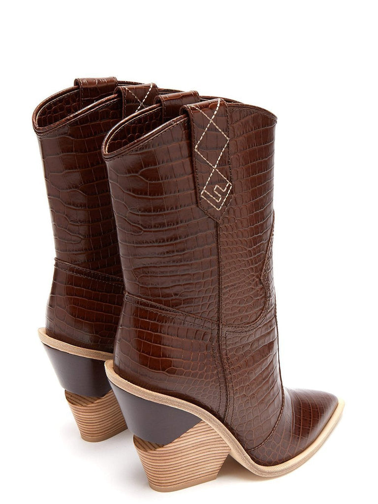 Serpensortia mid-calf boots in brown