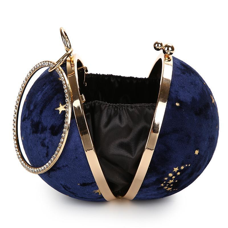 SILENT NIGHT velvet mini purse