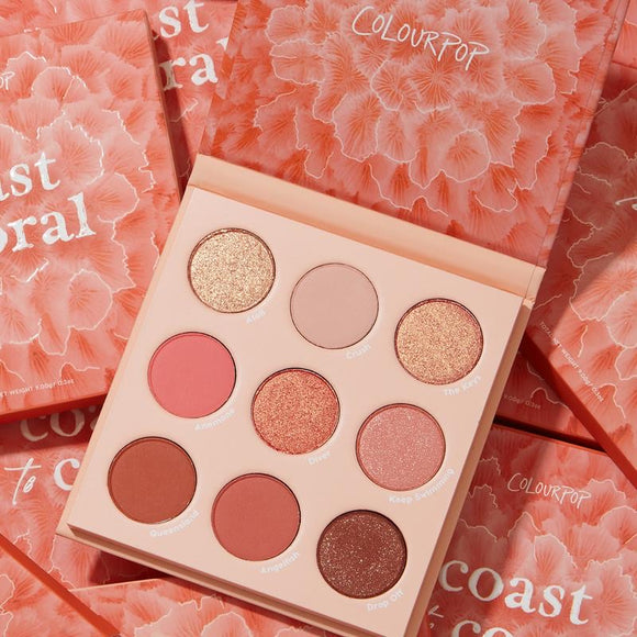 Colourpop Coast to Coral Shadow Palette