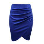 Stretch Pencil Skirt - Blue