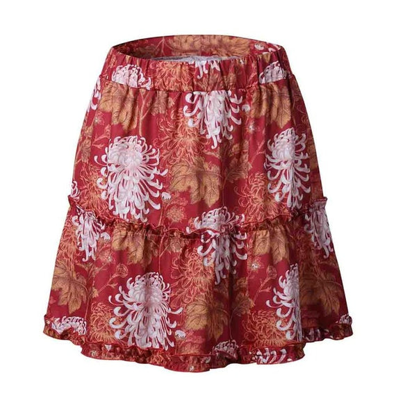 Boho Tiered Ruffle Skirt