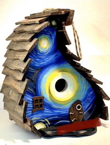 Starry Night Whimsical Birdhouse