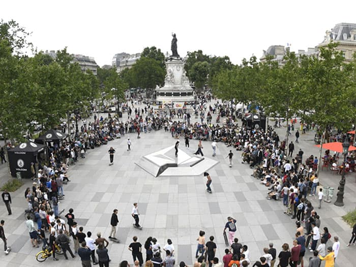 Volcom Adds New Skate Spot in Place de la Republique + Hosts Best-trick Contest