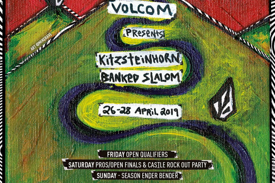 Volcom Banked Slalom a Kitzsteinhorn & Volcom Castle Rockout avec The Shrine