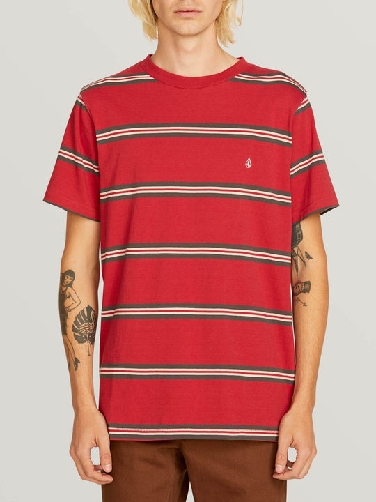 T-shirt Beauville Crew - Burgundy