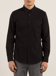 Chemise Manches Longues Oxford - Black