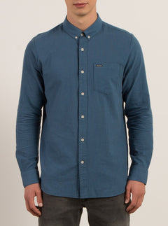 Chemise Manches Longues Micro Dot - Smokey Blue