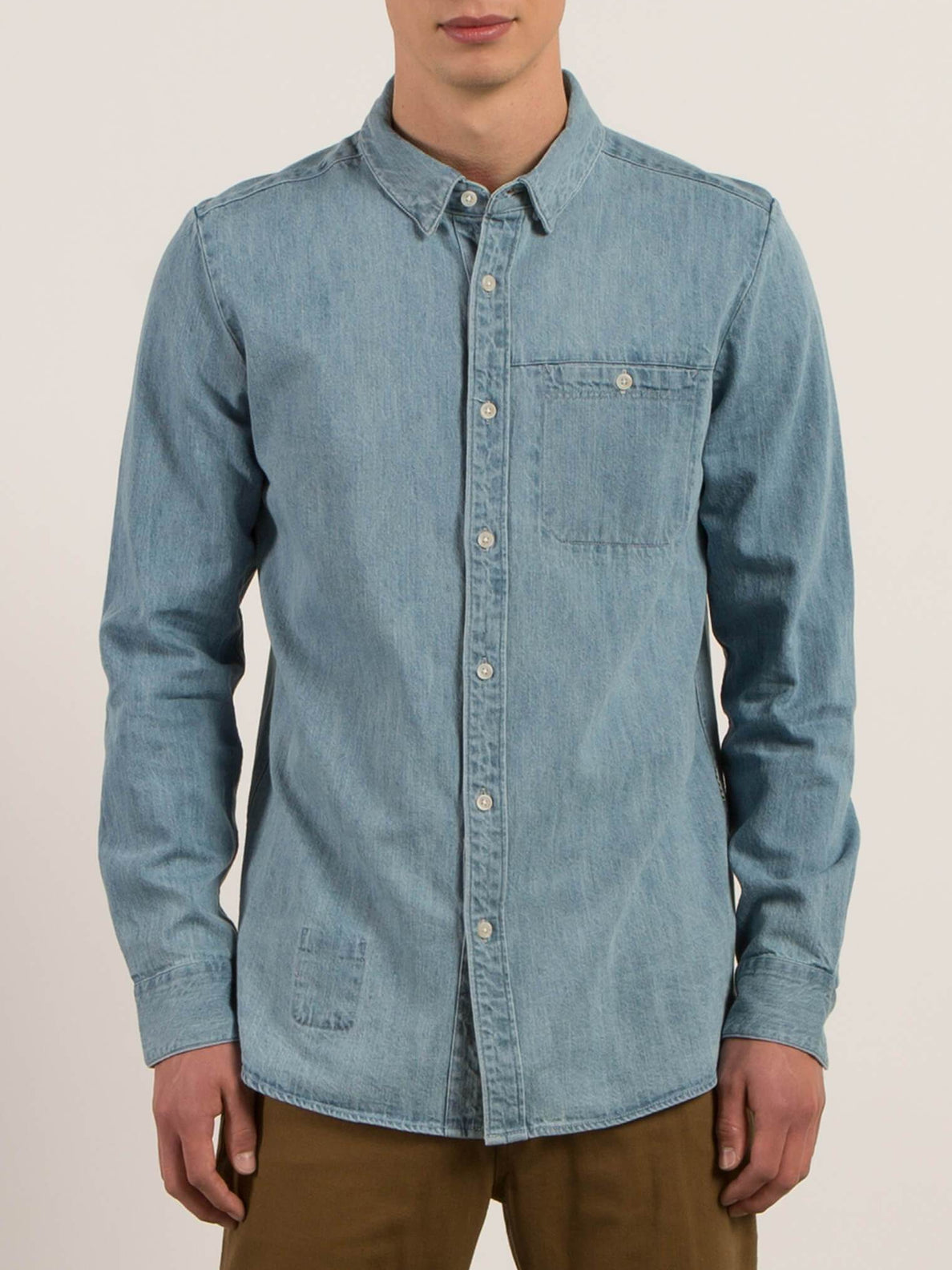 Chemise À Manches Longues Crowley - Washed Blue