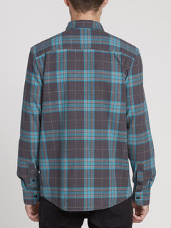 Caden Plaid Shirt - Asphalt Black (A0531906_ASB) [B]