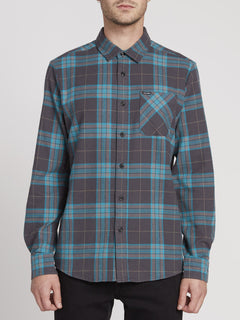 Caden Plaid Shirt - Asphalt Black (A0531906_ASB) [F]