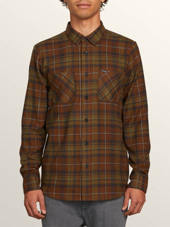 T-shirt Lumberg L/S Flannel - Vineyard Green