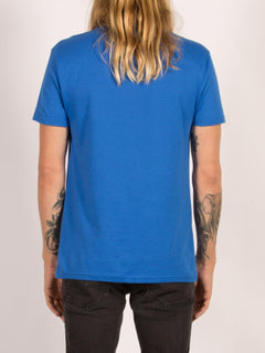 T-shirt manches courtes Circle Stone - True Blue