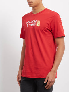 T-shirt Stence  - Engine Red