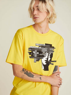 T-shirt Noa Noise Head T - Cyber Yellow