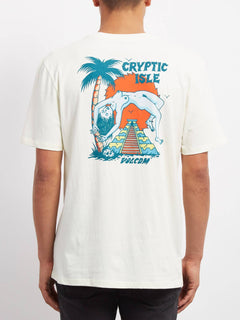 T-shirt Cryptic Isle  - Dirty White