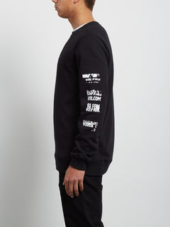 Sweatshirt Supply Stone Crew - Black