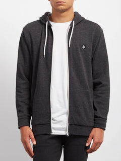 Iconic Zip Sweaters - Heather Black