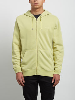 Sweatshirt zippé à capuche Case - Shadow Lime