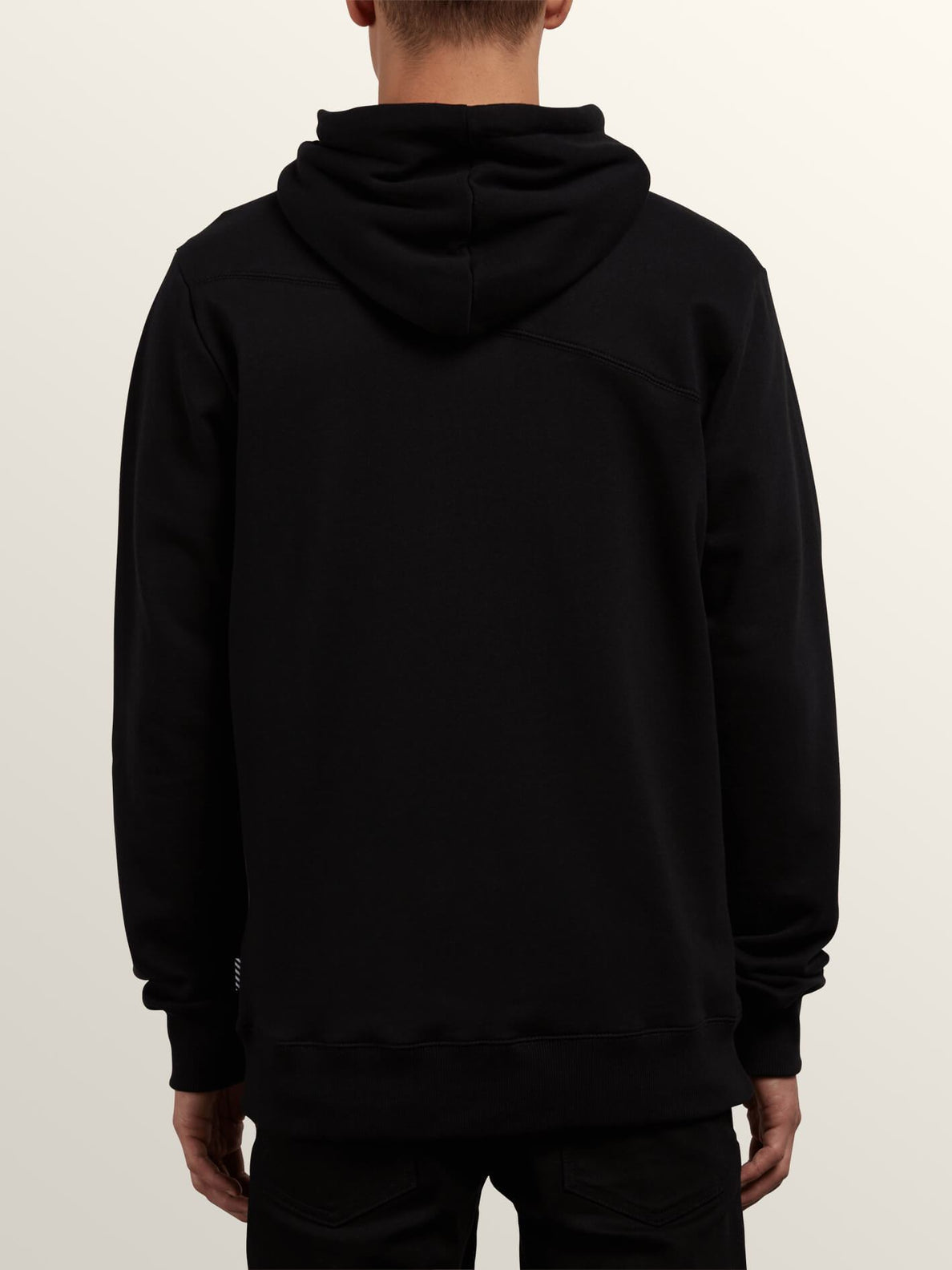 Sweat Sngl Stn Zip - Black