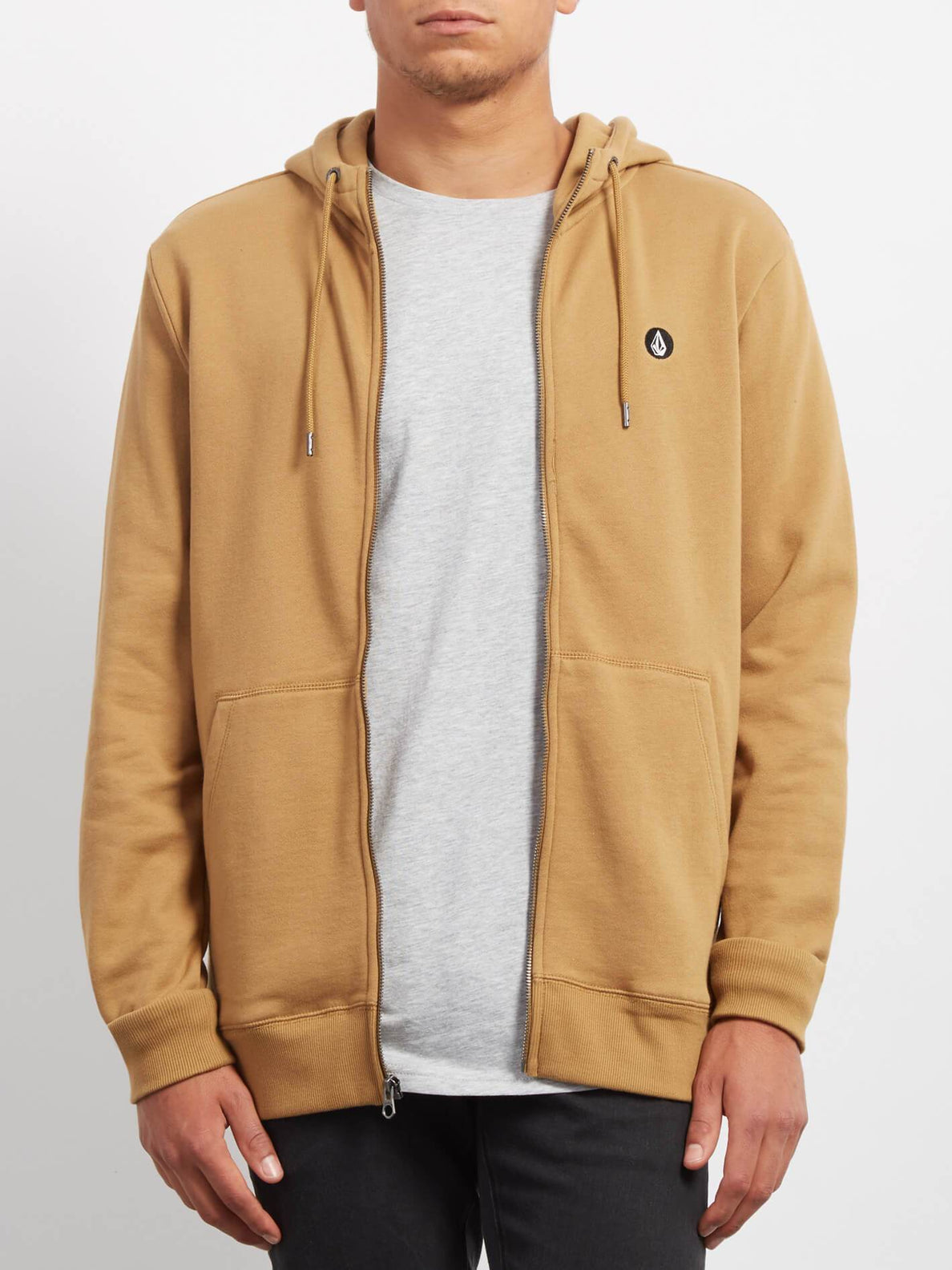Sweat Sngl Stn Zip - Old Gold