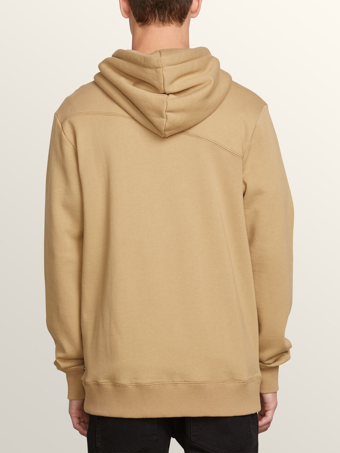 Sweat Sngl Stn Zip - Sand Brown
