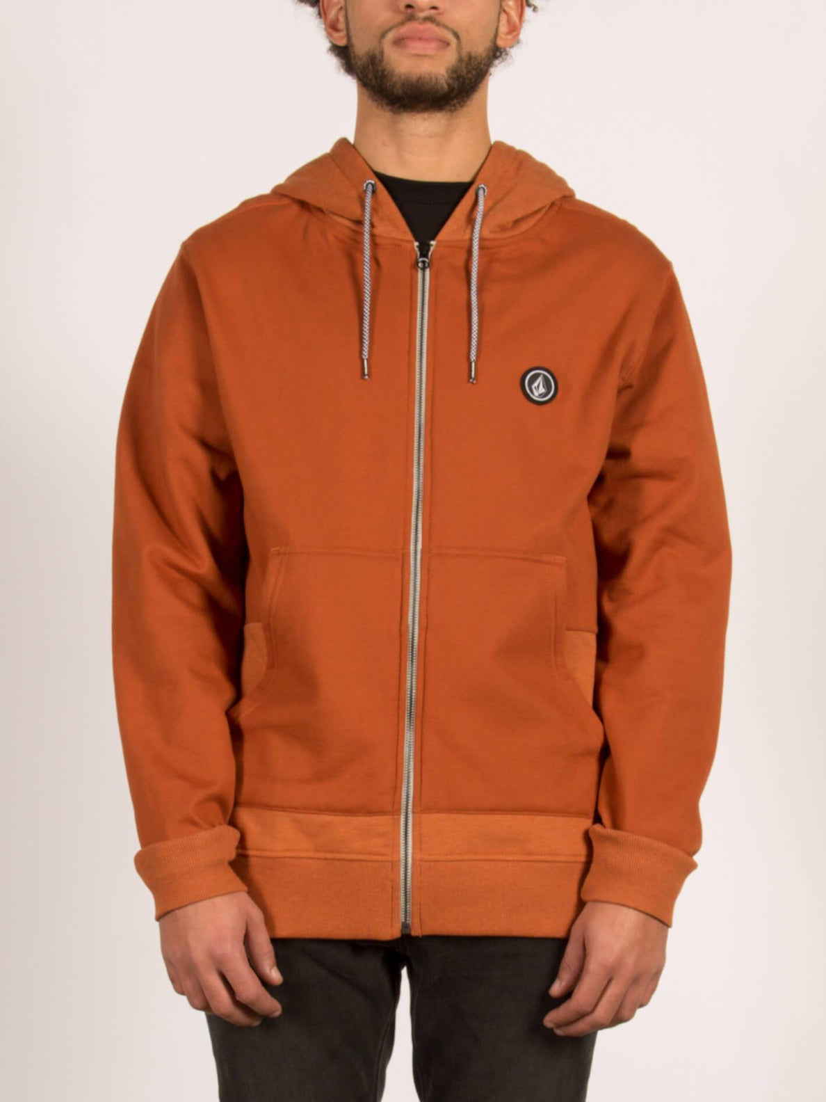 Sweatshirt zippé à capuche Backronym - Copper