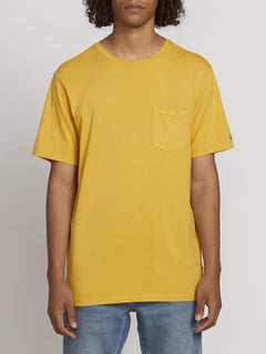 SOLID POCKET S/S TEE (A5031808_HGD) [F]