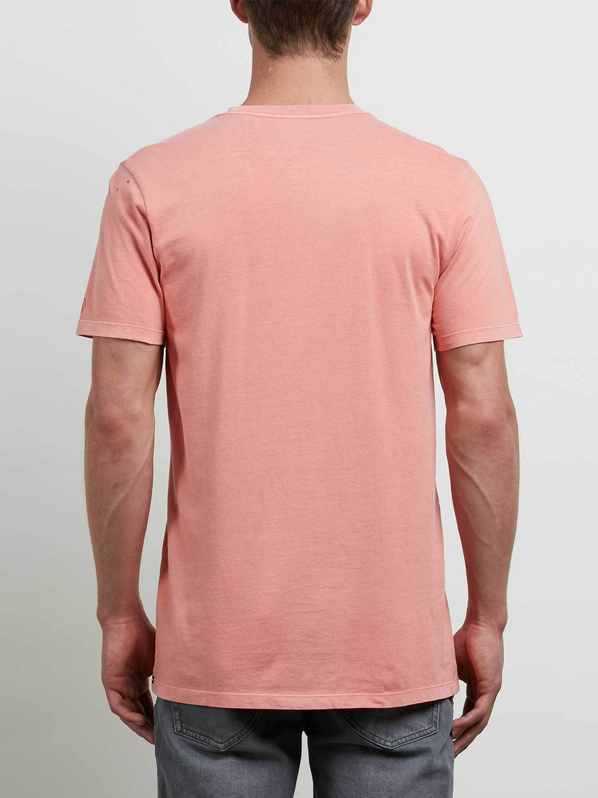 T-Shirt Manches Courtes Pale Wash Solid - Salmon