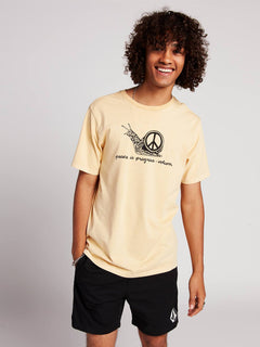 T-shirt Peaceisprogress - Light Peach