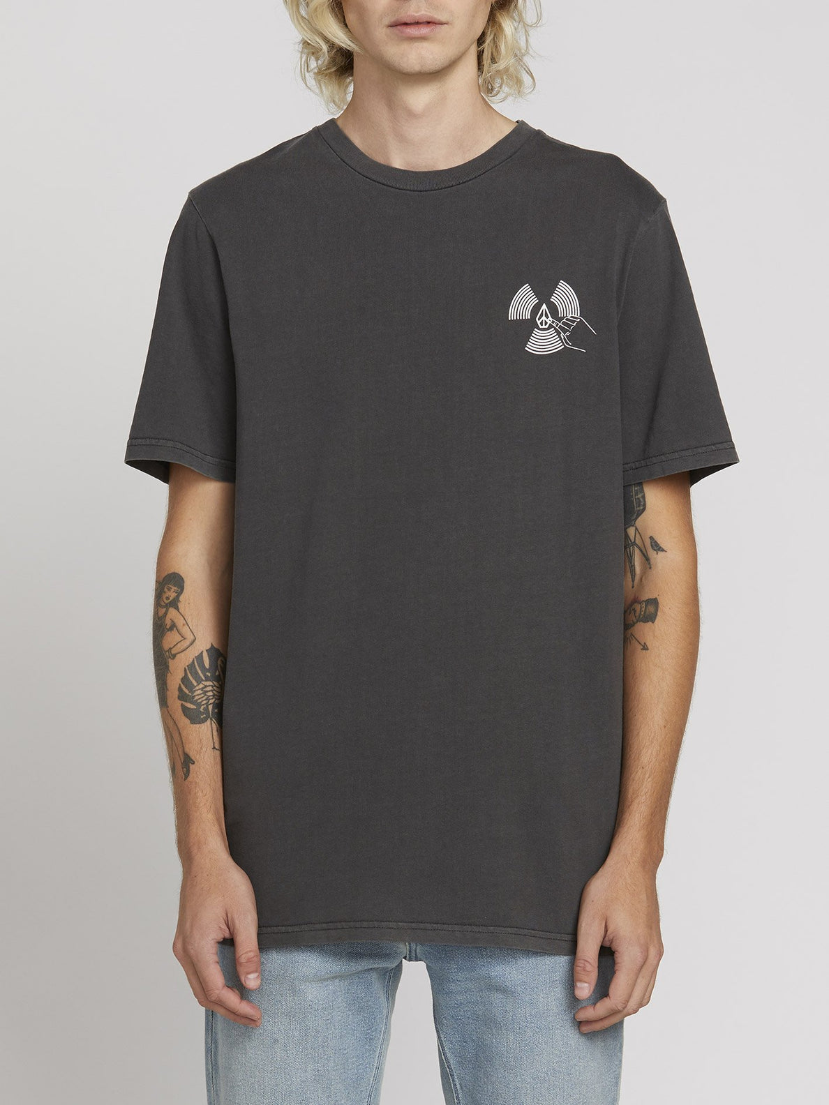 PUSH THIS S/S TEE (A5221902_BLK) [F]