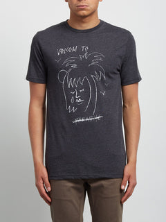 T-shirt à manches courtes Tropical D - Heather Black