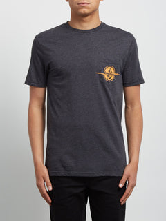 T-shirt à manches courtes Rip Pocket - Heather Black