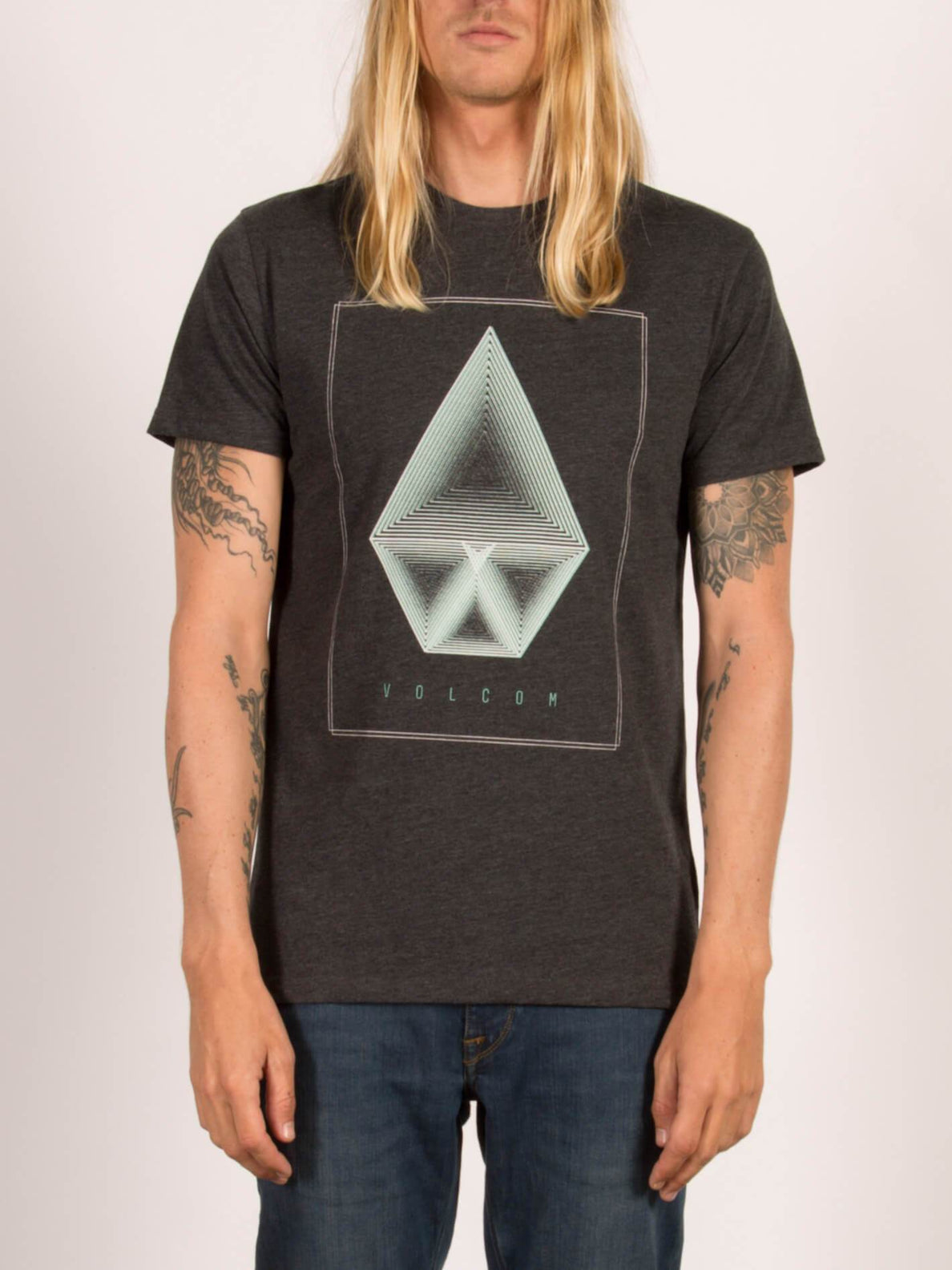 T-shirt manches courtes Concentric - Heather Black
