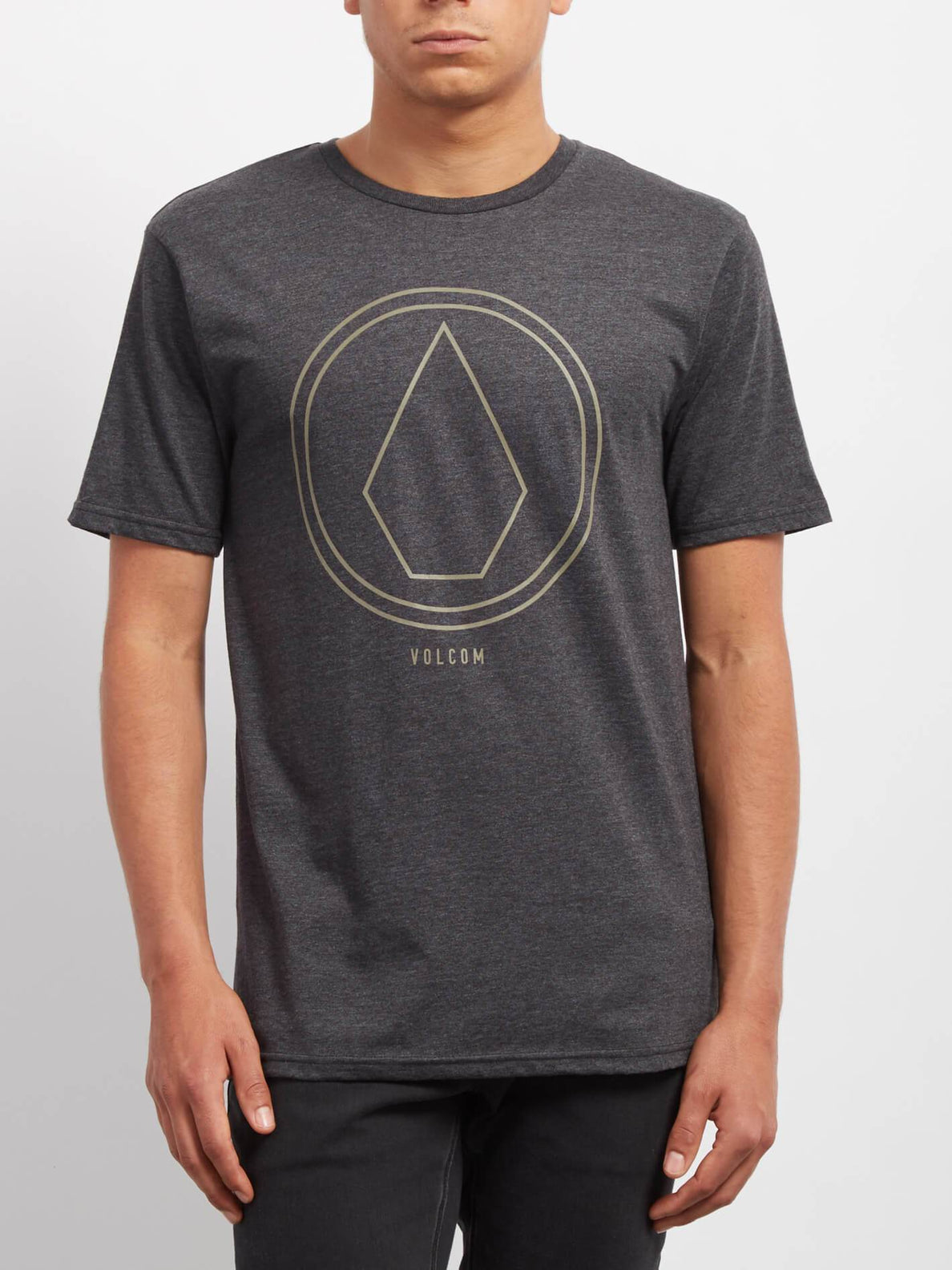 T-shirt Pinline Stone   - Heather Black