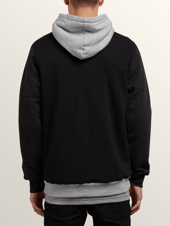 Sweat Sngl Stn Lined Zip - Black Combo
