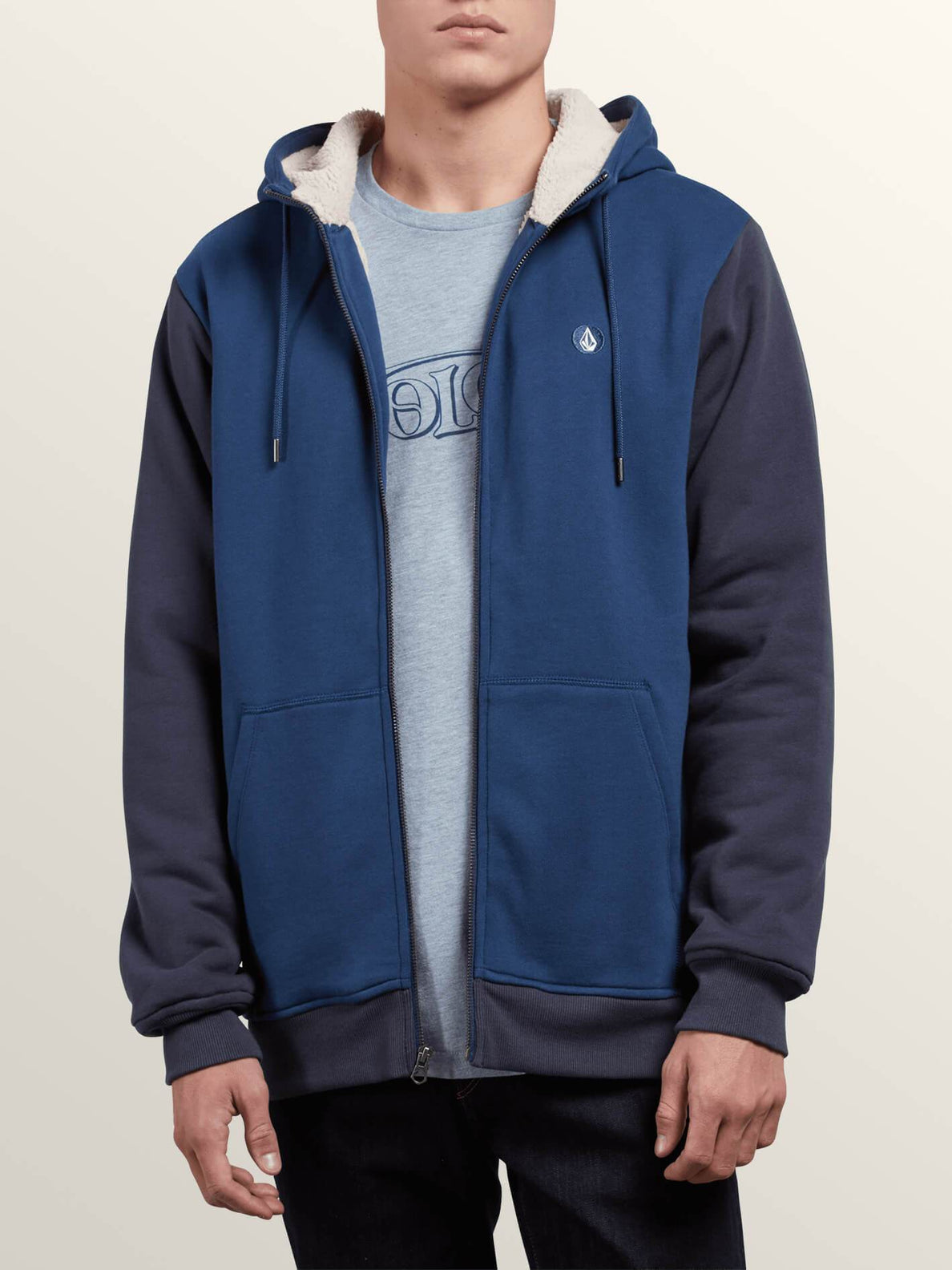 Sweat Sngl Stn Lined Zip - Matured Blue
