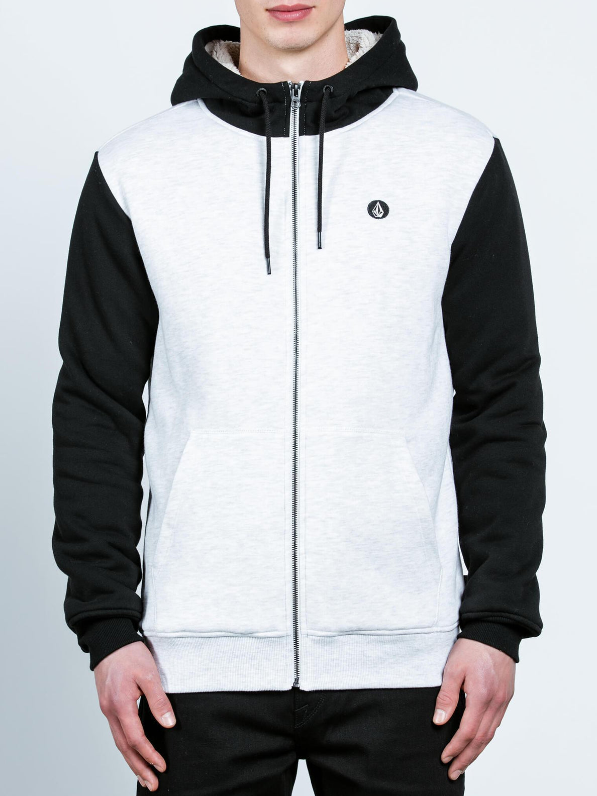 Sweat Sngl Stn Lined Zip - Mist