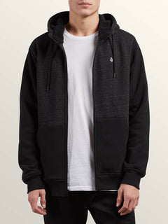 Sweat Sngl Stn Lined Zip - Sulfur Black