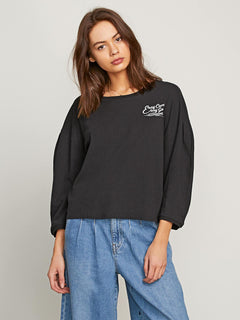 T-shirt Come Pleated - Black