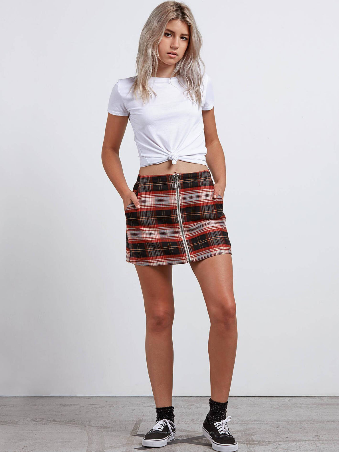 Jupe Frochickie Skirt - Black Plaid