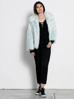 Manteau Fausse Fourrure Georgia May Jagger - Cool Blue