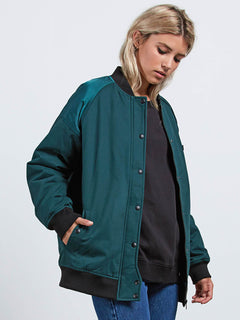 Veste Not Half Bomber - Evergreen