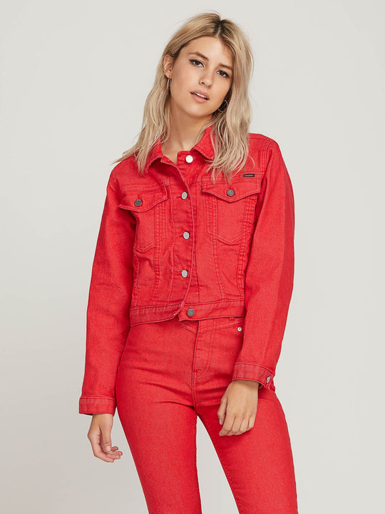 Veste Gmj Shrunken - Red