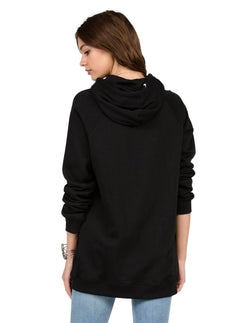 Lived In Long Pullover - Black