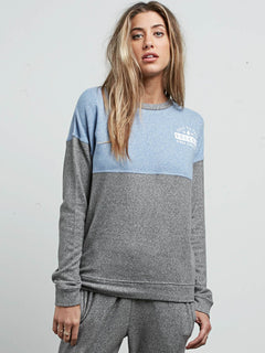 Sweatshirt Lil Crew Fleece - Charcoal Grey