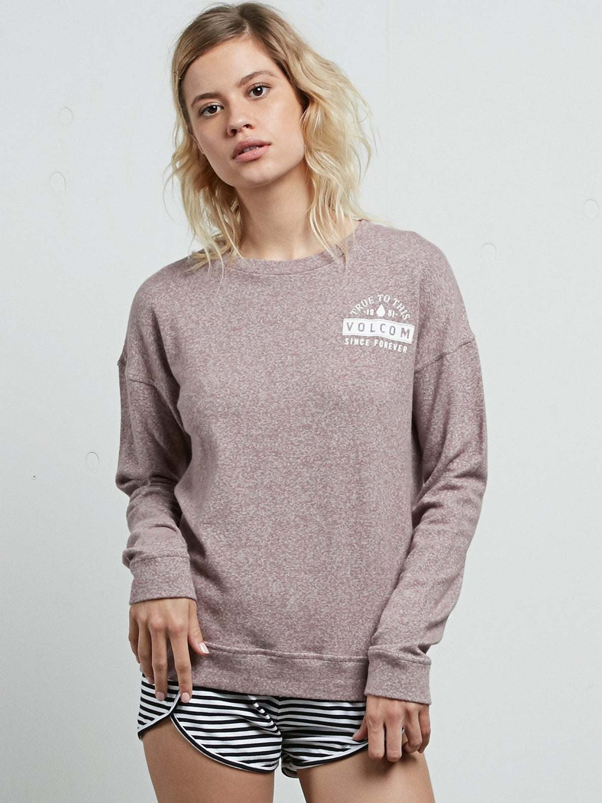 Sweatshirt Lil Crew Fleece - Purple Haze