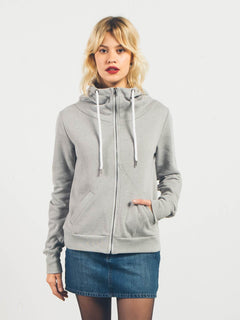 Sweatshirt zippé à capuche Walk On By - Heather Grey
