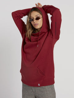Walk On By High Neck Hoodie - Auburn (B3131810_AUB) [1]