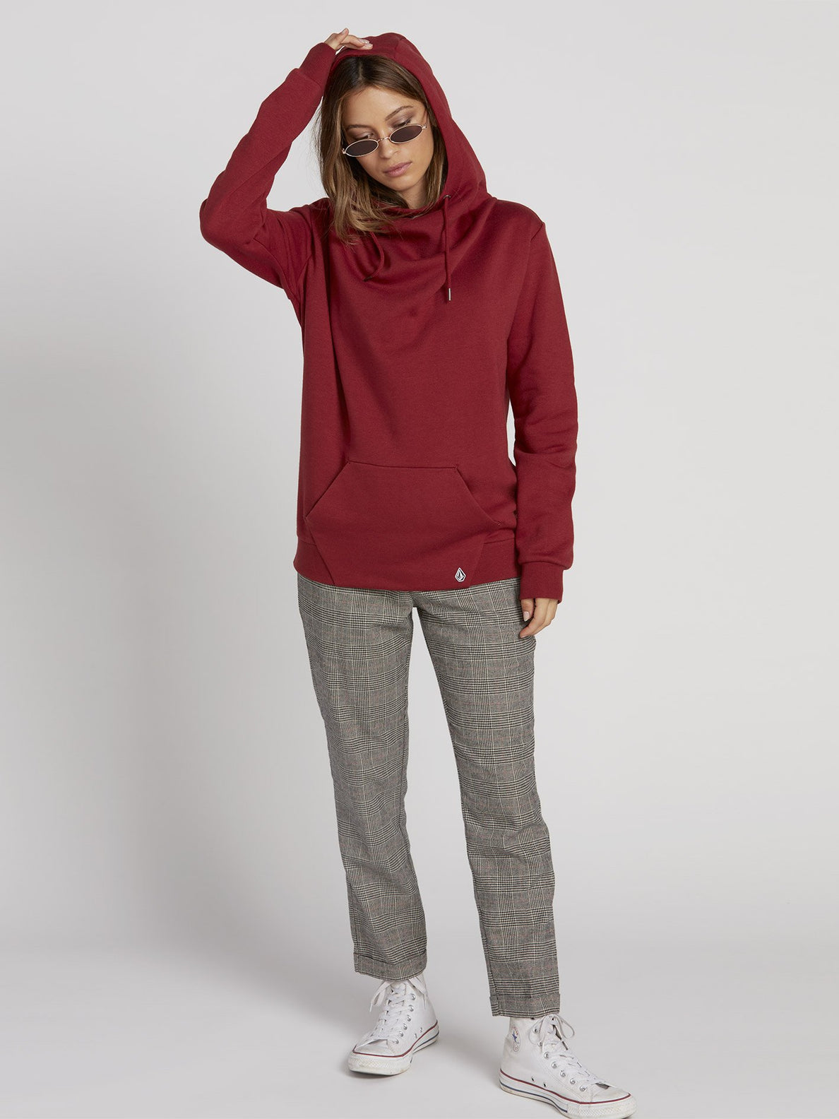 Walk On By High Neck Hoodie - Auburn (B3131810_AUB) [2]